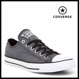 CONVERSE CHAMBRAY CHUCK TAYLOR LOW TOPS SNEAKERS
